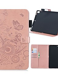 cheap -Case For Apple iPad Air / iPad 4/3/2 / iPad Mini 3/2/1 Wallet / Card Holder / with Stand Full Body Cases Butterfly Hard PU Leather / iPad (2017)
