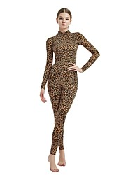 cheap -Patterned Zentai Suits Skin Suit Adults' Spandex Lycra Cosplay Costumes Leopard Animal Print Women's Cheetah Print Camo / Camouflage Halloween Carnival Masquerade / High Elasticity
