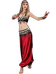cheap -Belly Dance Bra Ruching Women's Training Performance Sleeveless Dropped Polyester