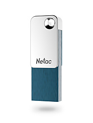 cheap -Netac 32GB usb flash drive usb disk USB 2.0 / Micro USB Aluminum-magnesium alloy Cuboid / Micro Encrypted / Capless / Geometric Pattern U329