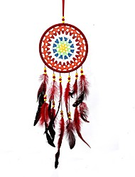 cheap -Handmade Dream Catchers With Feather Traditional Wall Hangings Decoration