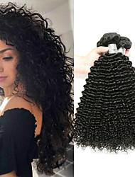 cheap -4 Bundles Brazilian Hair Kinky Curly Unprocessed Human Hair Headpiece Natural Color Hair Weaves / Hair Bulk Hair Care 8-28inch Natural Color Human Hair Weaves Odor Free Best Quality Hot Sale Human