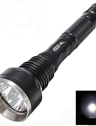 cheap -LED Flashlights / Torch Waterproof 3000 lm LED LED 3 Emitters 5 Mode Waterproof Impact Resistant Nonslip grip Camping / Hiking / Caving Everyday Use Police / Military / Aluminum Alloy
