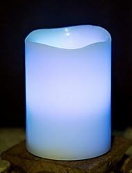 abordables -1pc LED Night Light Bleu Piles AA alimentées Lampe d'ambiance