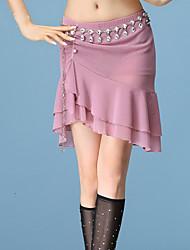 cheap -Belly Dance Bottoms Women's Performance Spandex / Chinlon Ruching Dropped Skirts