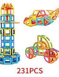 Недорогие -Магнитный конструктор Магнитные плитки 231 pcs Геометрический узор Все Мальчики Девочки Игрушки Подарок