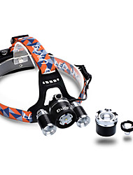 cheap -U'King ZQ-G808 Headlamps Headlight Rechargeable 3000 lm LED LED 3 Emitters 4 Mode Zoomable Rechargeable Adjustable Focus Dimmable Compact Size High Power Camping / Hiking / Caving Hunting Fishing