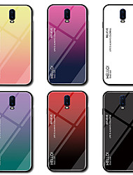 cheap -Case For OnePlus OnePlus 6 / One Plus 6T / One Plus 5 Mirror Back Cover Color Gradient Hard Tempered Glass
