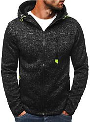 cheap -Men's Active / Basic Hoodie / Hoodie Jacket - Polka Dot Split Black XL