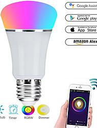 cheap -E27 7W LED Smart WIFI Bulbs 22 LED Beads SMD 5730 Works With Amazon Alexa / APP Control / Google Home RGBW 85-265V