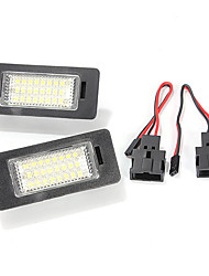 cheap -24 LED License Plate Light for Audi TT Q5 A4 A5 S5 VW Passat R36 2008.