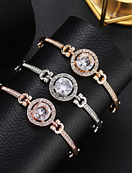 cheap -Women's Crystal Crystal Bracelet Tennis Chain Sun Precious Simple Fashion Elegant Rhinestone Bracelet Jewelry Gold / Silver / Rose Gold For Going out Work