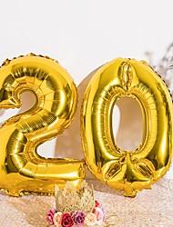 Недорогие -Воздушный шар Алюминиевая фольга Свадебные украшения День рождения Персонажи / Праздник / Рождение ребенка Все сезоны