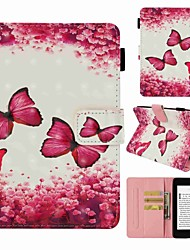cheap -Case For Amazon Kindle PaperWhite 4 Card Holder / Shockproof / Pattern Full Body Cases Butterfly Hard PU Leather