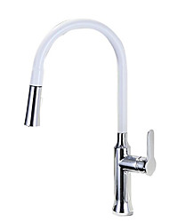 cheap -Kitchen faucet - Single Handle One Hole Stainless Steel Standard Spout / Tall / High Arc Contemporary Kitchen Taps