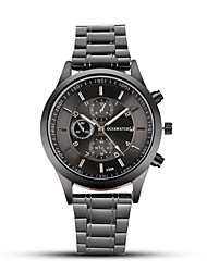 cheap -Men's Dress Watch Quartz Stainless Steel Black Three Time Zones Analog - Digital Classic Casual Fashion - Black