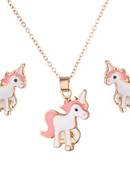 cheap -Women's Stud Earrings Necklace Classic Horse Fashion Cute Earrings Jewelry Gold For Daily Street 1 set