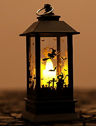 cheap -LED Oil Lamp Lantern Night Light Graveyard Bat Witch Haunted House Spooky for Halloween Decoration Haunted House 1pc