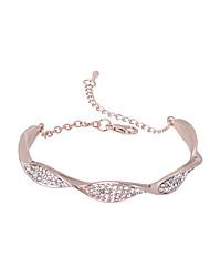 cheap -Women's Bracelet Snake Simple Rhinestone Bracelet Jewelry Silver / Rose Gold For Ceremony Bar