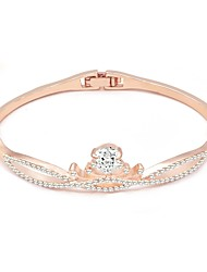 cheap -Women's Clear Bracelet Bangles Classic Crown Stylish Alloy Bracelet Jewelry Silver / Rose Gold / Champagne For Daily Birthday Bar