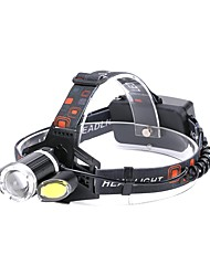 cheap -U'King Headlamps Headlight 2000 lm LED Emitters 4 Mode with USB Cable Zoomable Portable Durable Camping / Hiking / Caving Everyday Use Cycling / Bike Black / Aluminum Alloy