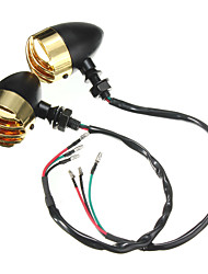 cheap -2pcs Wire Connection Light Bulbs Turn Signal Lights For Suzuki / Honda / Harley All years