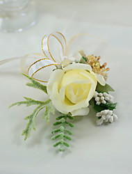 "cheap -Wedding Flowers Boutonnieres Wedding / Wedding Party Other Material / Plexiglas / Fabrics 5.91""(Approx.15cm)"