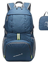 cheap -35 L Hiking Backpack Lightweight Packable Backpack Waterproof Ultra Light (UL) Foldable Compact Outdoor Hiking Climbing Camping Nylon Rough Black Burgundy Dark Navy / Wear Resistance