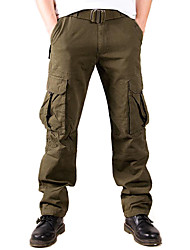 cheap -Men's Hiking Pants Hiking Cargo Pants Outdoor Breathable Comfortable Anti-tear Durable Cotton Pants / Trousers Bottoms Hunting Fishing Hiking Army Green XS S M L XL / Wear Resistance / Multi Pocket