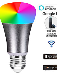abordables -e27 led smart wifi ampoules 22 led perles smd 5730 fonctionne avec amazon alexa / contrôle de l'application / google home rgbw 85-265v