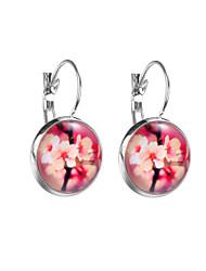 cheap -Women's Earrings Fancy Flower Anime Cute Earrings Jewelry Rainbow / Red / Blue For Date Street 1 Pair