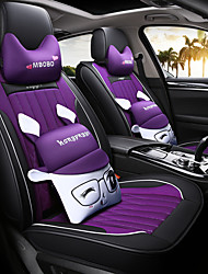 cheap -Car Seat Covers Headrest & Waist Cushion Kits Purple / Coffee / Blue Leather / Polyester Fabric Cartoon For universal / Mazda All years Atenza