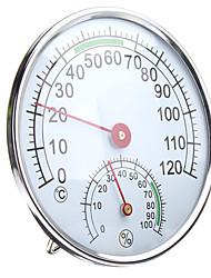 Недорогие -термометр / гигрометр из нержавеющей стали для сауны комнатный измеритель влажности