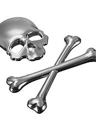 Недорогие -автомобиль 3d скелет череп кости эмблема значок логотип металлическая наклейка наклейка