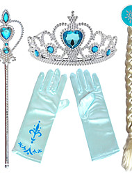 cheap -Tiaras Forehead Crown Magic stick Halloween New Year's Resin PP For Princess Elsa Anna Cosplay Girls' Costume Jewelry Fashion Jewelry / Gloves / Headwear / Gloves / Headwear / Wand