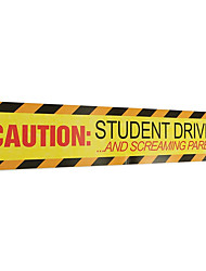cheap -Caution Student Driver Car Stickers Safety Warning Sign Magnet Reflective Decal