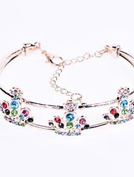 abordables -Manchettes Bracelets Femme Le style rétro Couronne Elégant simple Bracelet Bijoux Argent Or Rose Ovale pour Anniversaire Quotidien Vacances