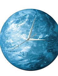 cheap -Modern Style Plastic Round Indoor AA Batteries Powered Decoration Wall Clock Mirror Polished No