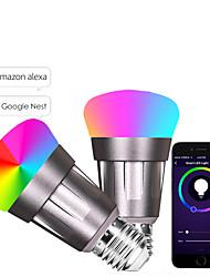 abordables -e27 7w led perles intelligentes wifi smd 5730 fonctionne avec amazon alexa / contrôle de l'application / google home rgbw 85-265v