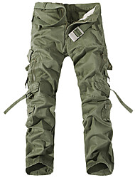 cheap -Men's Hiking Pants Hiking Cargo Pants Tactical Pants Outdoor Windproof Durable Wear Resistance Multi Pocket Cotton Pants / Trousers Bottoms Camping / Hiking Hunting Climbing Black Army Green Grey M