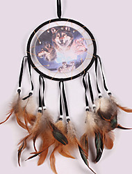 cheap -Handmade Dream Catchers With Feather Bohemia India Style Wall Decoration