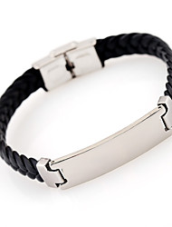 cheap -Personalized Leather / Stainless Steel / Iron Bracelet / Bangle Friends Gift / Daily Wear -