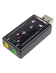 Недорогие -USB 2.0 Конвертер / дистрибьютор / Switcher, USB 2.0 к Аудио 3,5 мм Конвертер / дистрибьютор / Switcher Male - Female Никелированная сталь 480 Мб / сек.