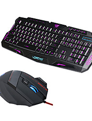 cheap -J20 USB Wired Mouse Keyboard Combo Cute / 3D Cartoon / Cool Gaming Keyboard Luminous Gaming Mouse / Office Mouse 3200 dpi