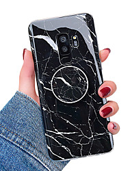abordables -Coque Pour Samsung Galaxy S9 / S9 Plus / S8 Plus Avec Support / IMD Coque Marbre Flexible TPU