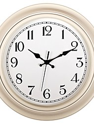 cheap -Wall Clock,Modern Style European Plastic & Metal Round Indoor