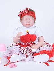 cheap -Reborn Doll Girl Doll Baby Girl 22 inch lifelike Cute Kids / Teen Kid's Unisex Toy Gift