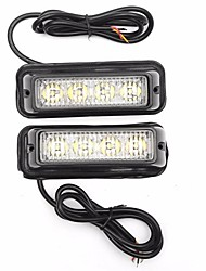 cheap -2pcs Car Light Bulbs 2 W 4 LED Warning Lights For universal / Volkswagen / Toyota General Motors All years