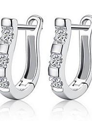 cheap -Women's Earrings Classic Trendy Sweet Imitation Diamond Earrings Jewelry Silver For Wedding Party 1 Pair