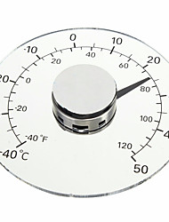 cheap -Clear Fahrenheit Celsius Degree Circular Outdoor Thermometer Hygrometer Temperature Humidity Meter